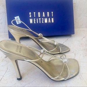 Stuart Weitzman Shoes - Stuart Weitzman Light gold sandals